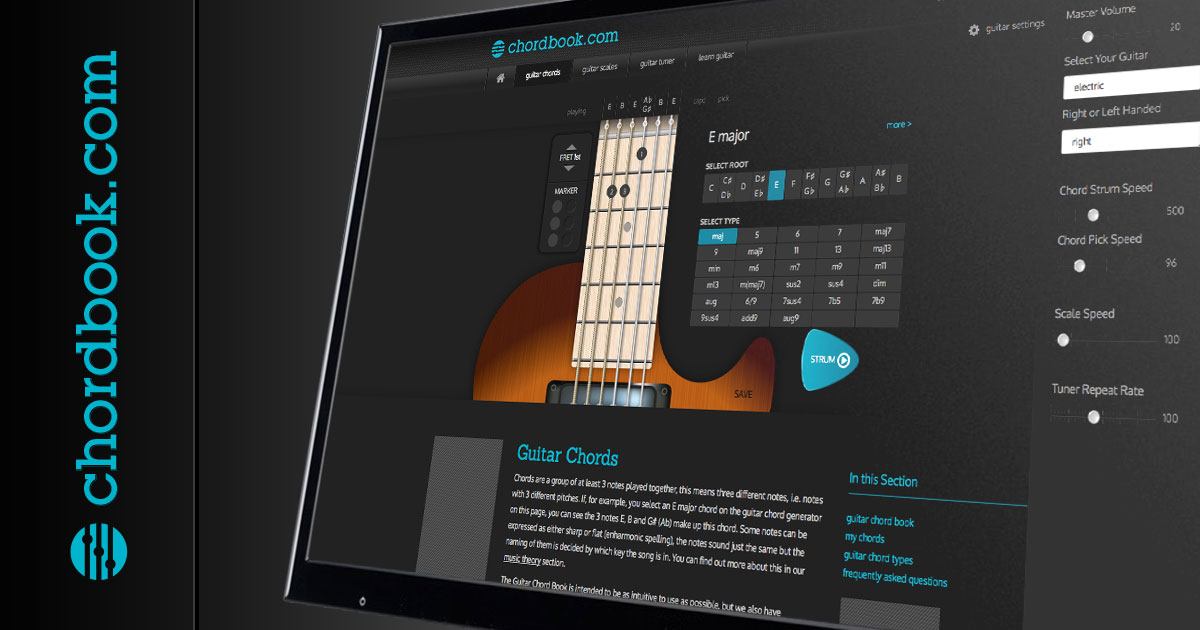 Guitar Chords with Chordbook